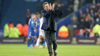 Claude Puel applauds fans after Burnley win