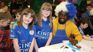 NDidi and Young Leicester Fans