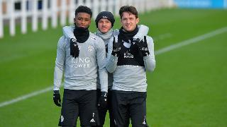 Demarai Gray, James Maddison and Ben Chilwell