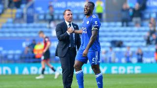 Brendan Rodgers and Wes Morgan