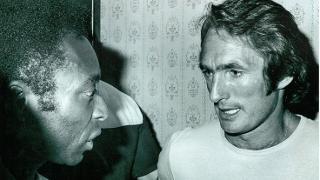 Len Glover and Pelé