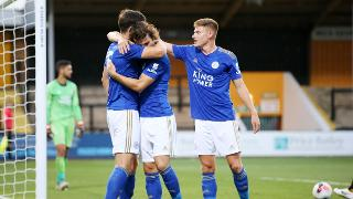 Harry Maguire, Çağlar Söyüncü and Harvey Barnes