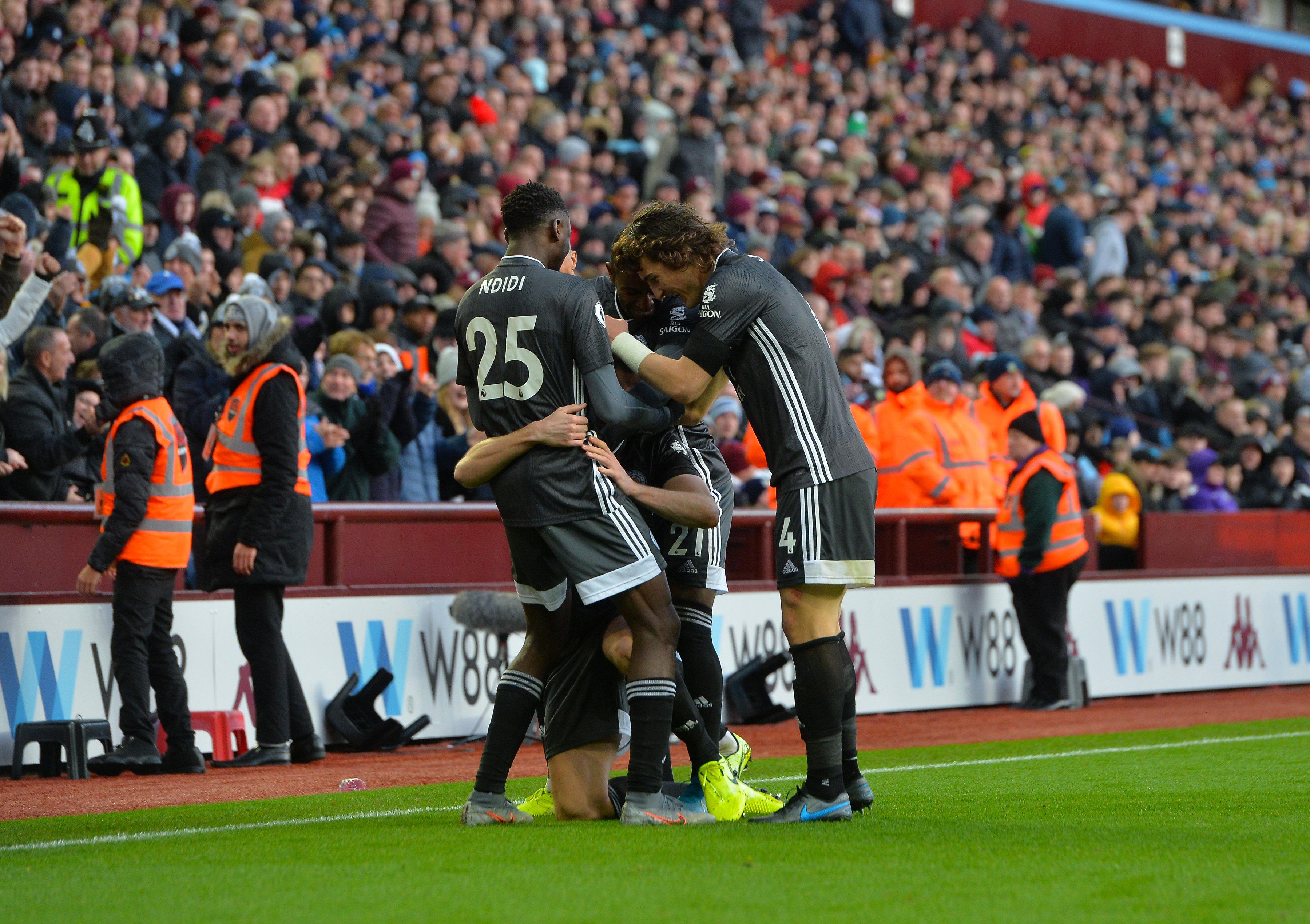 Goals: Aston Villa 1 Leicester City 4
