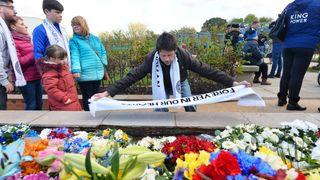 Leicester City fans visit Vichai Srivaddhanaprabha Memorial Garden