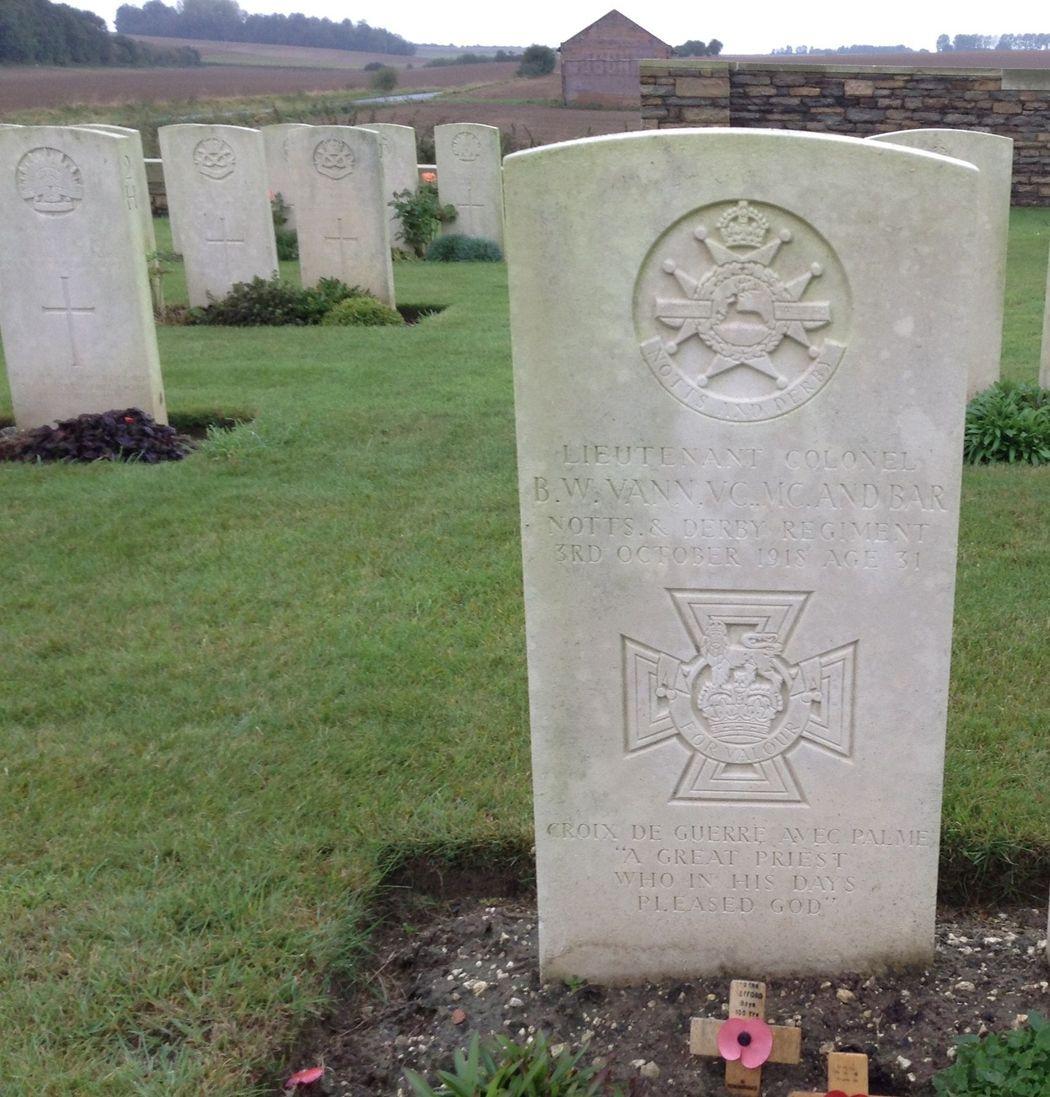 Bernard Vann's headstone