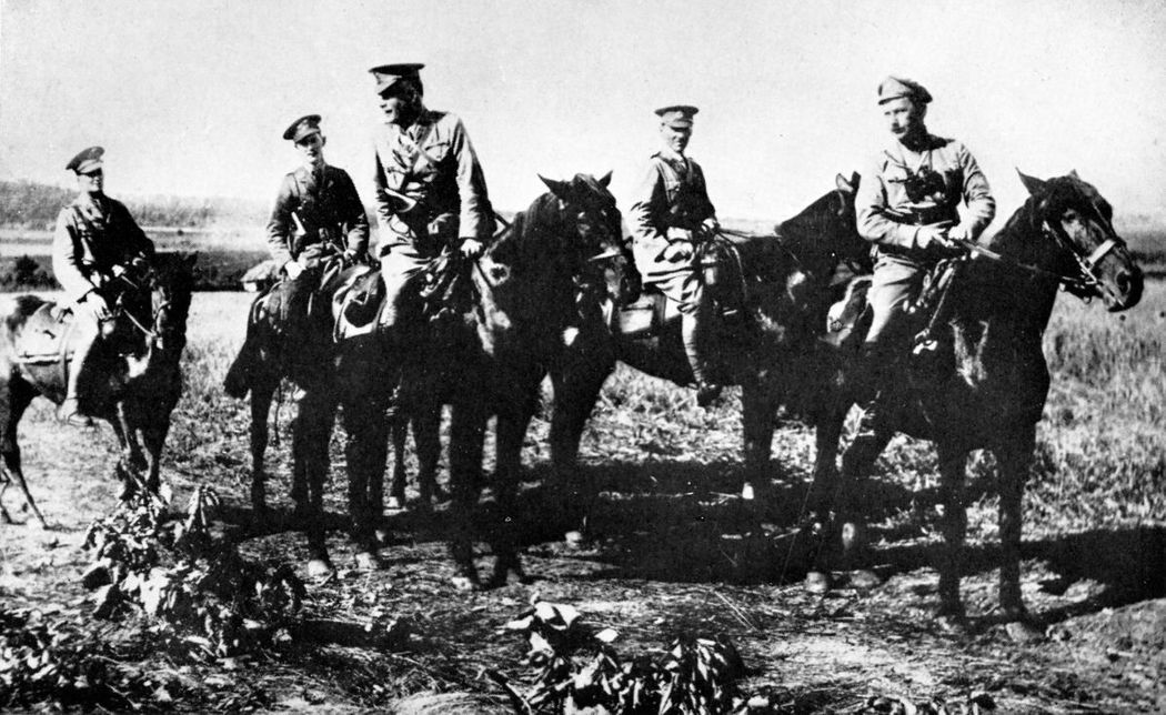 Allied officers at the front near Omsk