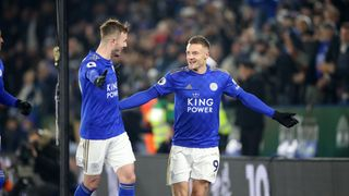 Jamie Vardy and James Maddison