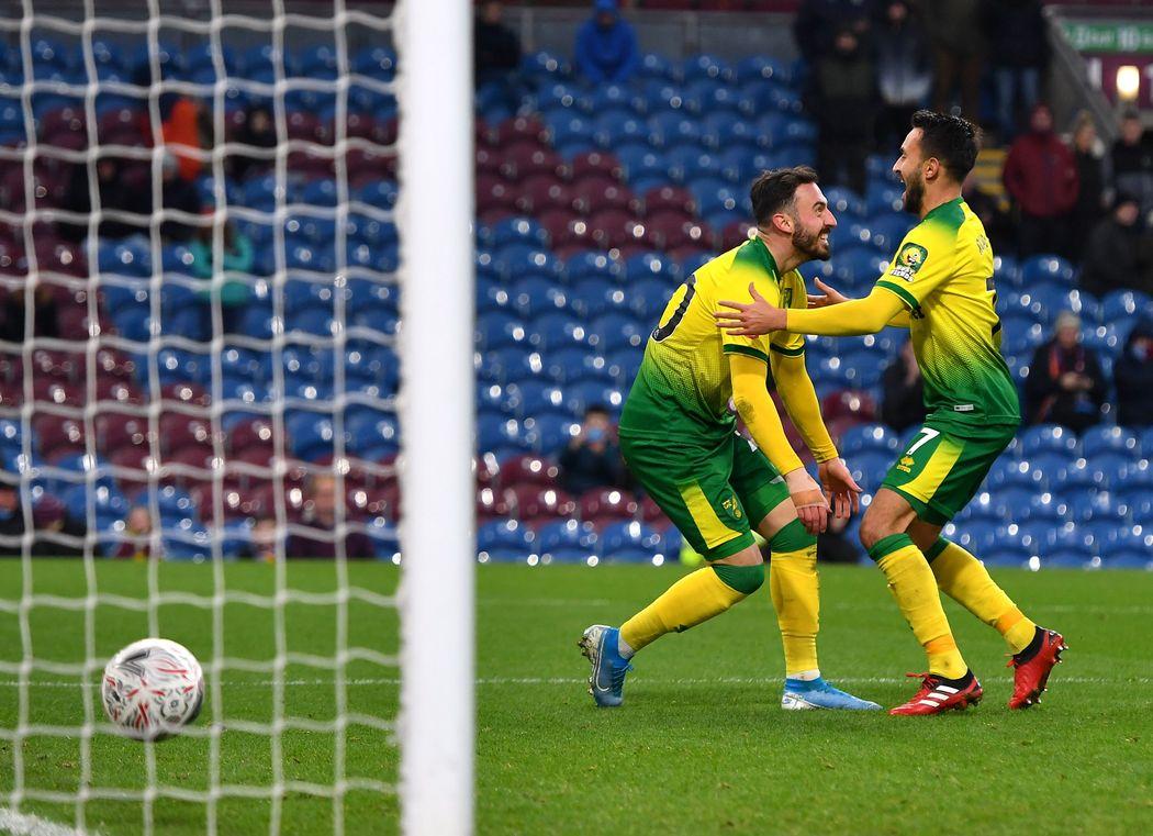 Norwich celebrate vs. Burnley