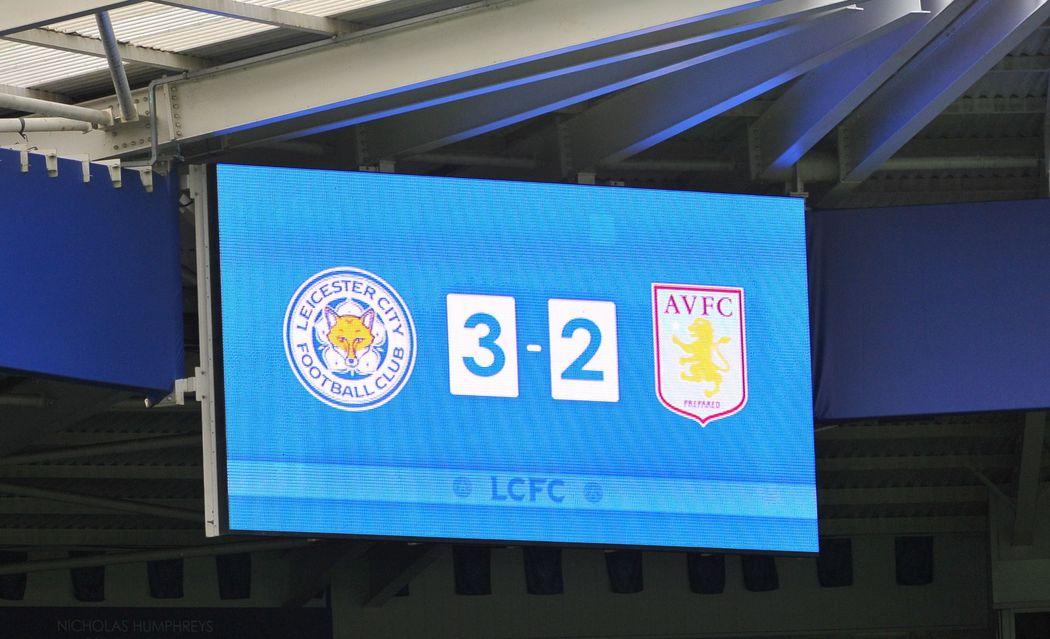 Leicester City 3 Aston Villa 2