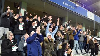 Leicester City supporters In Leuven