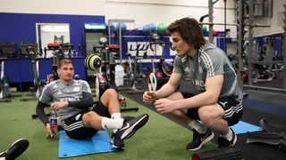 Caglar Soyuncu and Marc Albrighton