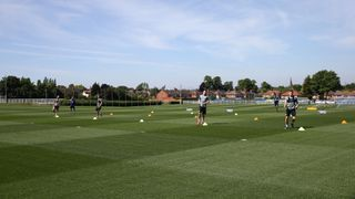 Leicester City Training At Belvoir Drive