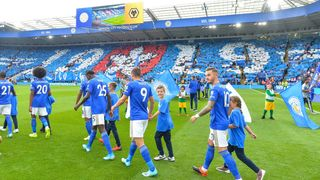 Leicester City walk out at King Power Stadium