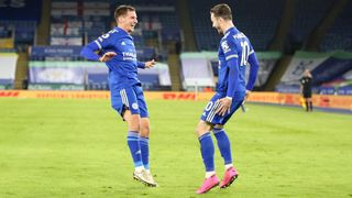James Maddison with Marc Albrighton
