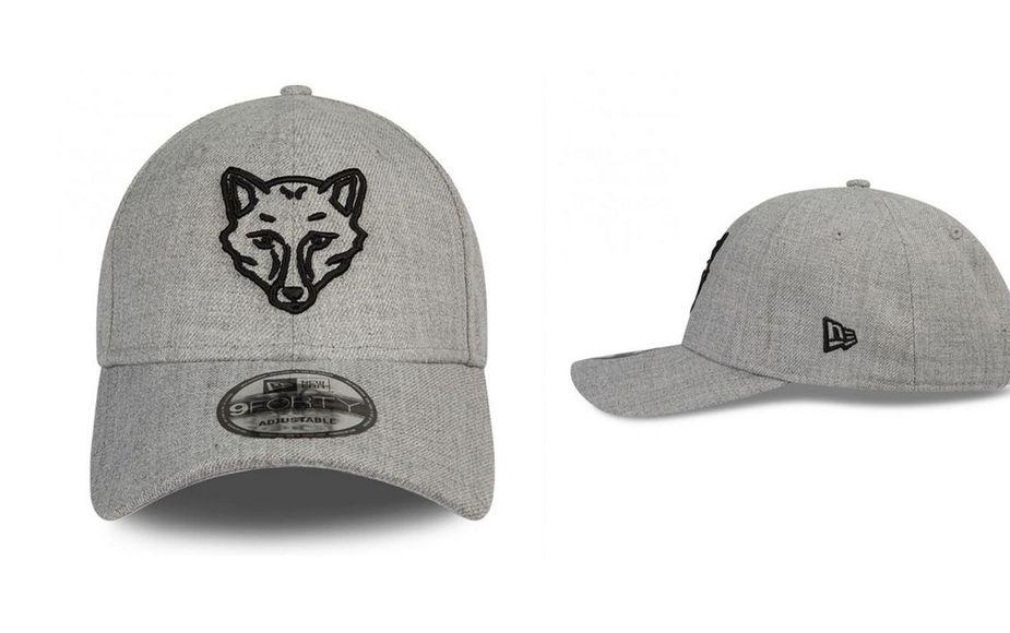 Heather fox head cap