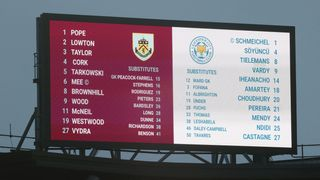 Big screen at Turf Moor