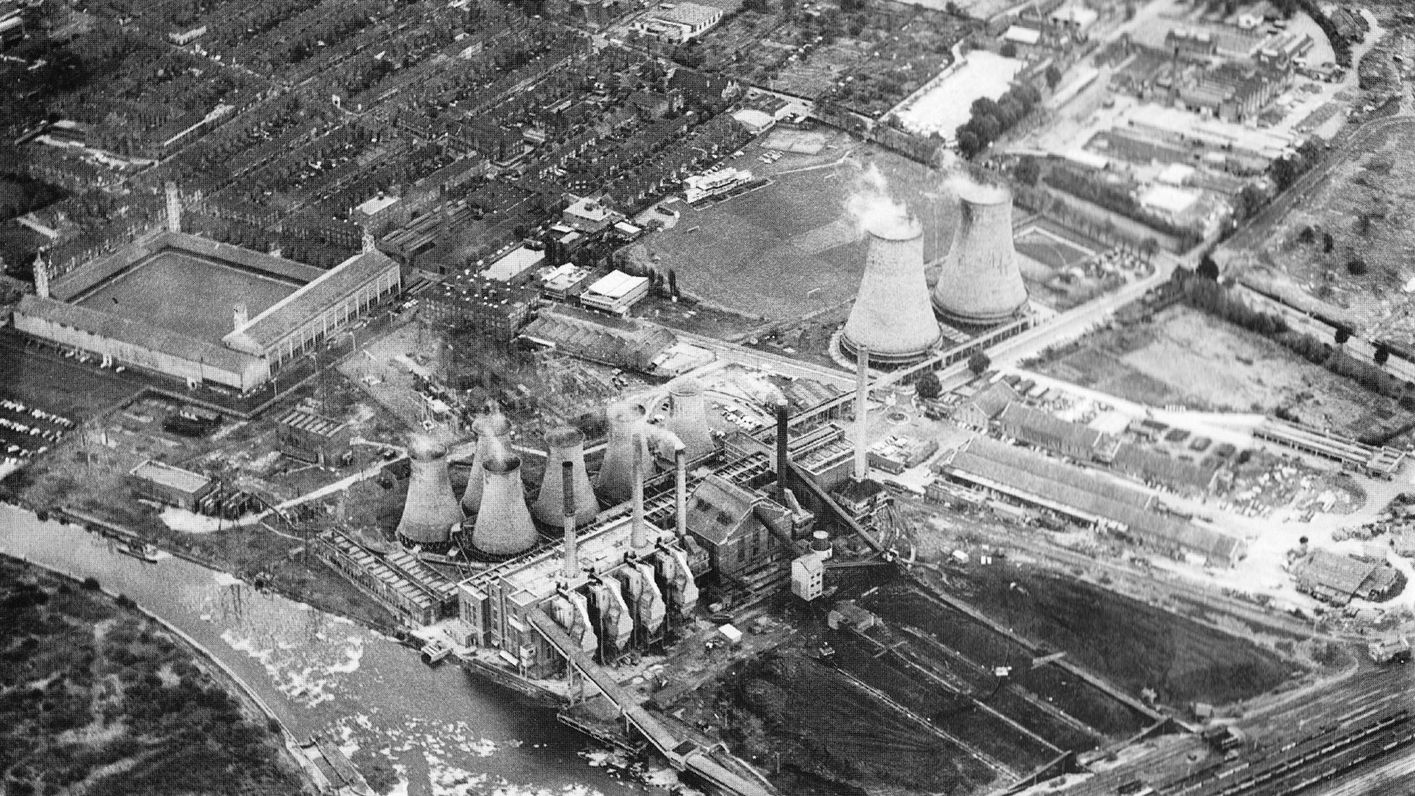 Filbert Street and the electrics plant