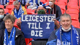 Foxes fan at Wembley