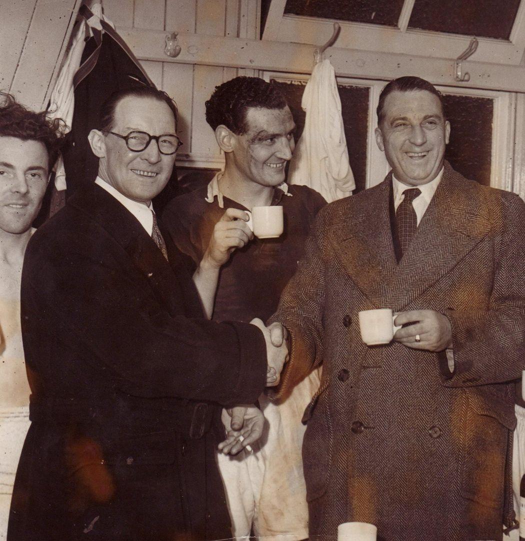 Johnny Morris, Norman Bullock, Matt Gillies and Len Shipman