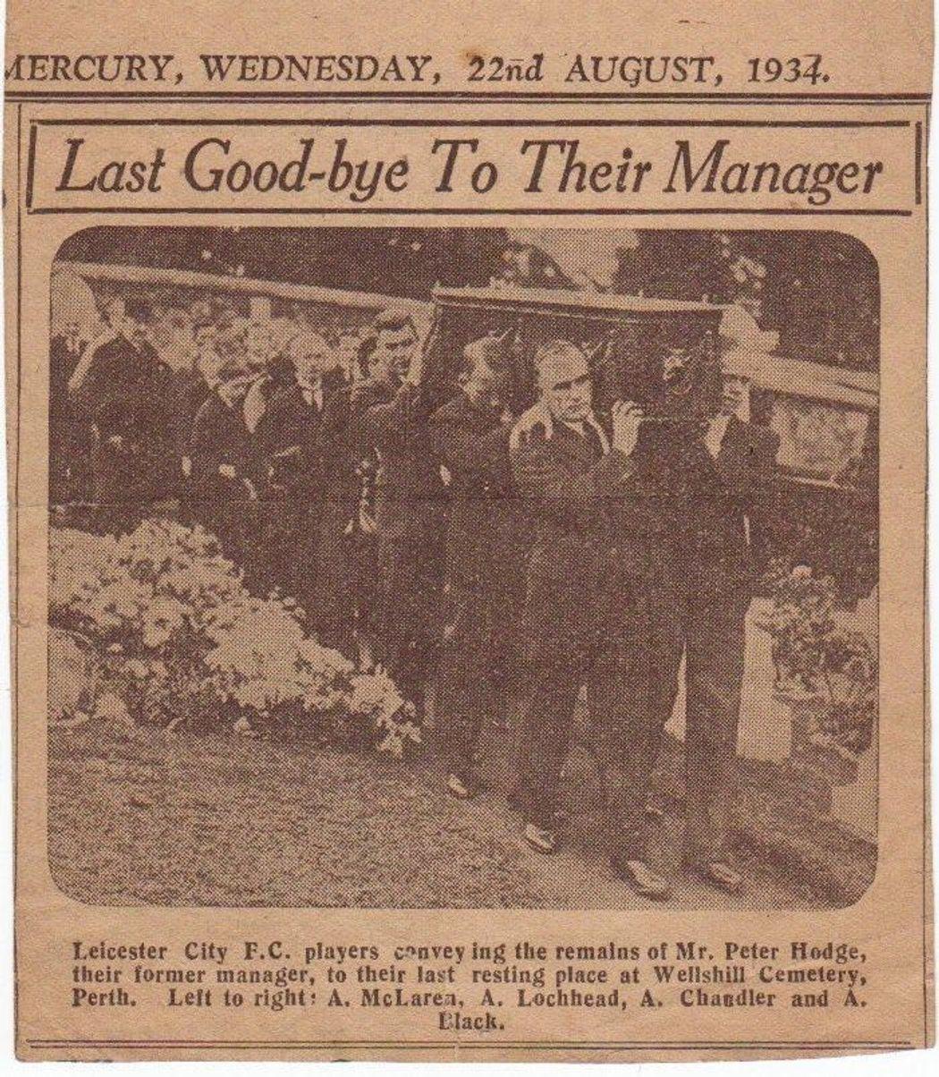 Peter Hodge's funeral, 1934